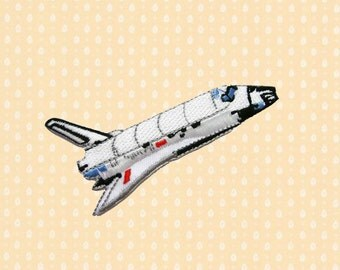 Nasa fabric etsy for Space shuttle fabric