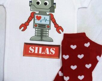 Boy Valentine bodysuit or shirt with leg warmers/Love Machine bodysuit/Custom Valentine shirt/Personalized Valentine bodysuit