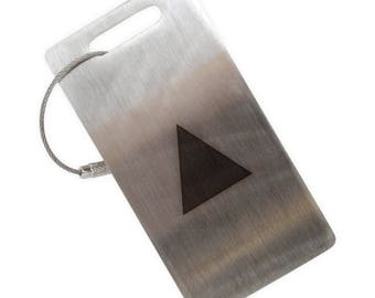 Isosceles Triangle Stainless Steel Luggage Tag