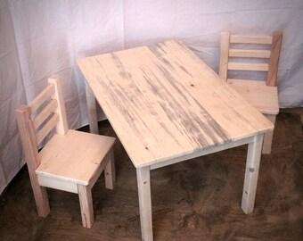 Kids Wood Table Set / Kids Furniture