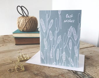 A6 Best Wishes greeting card