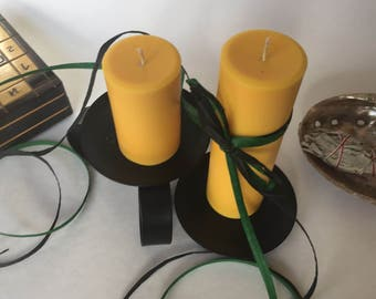 Ginger Scented Soy Wax Pillar Candles