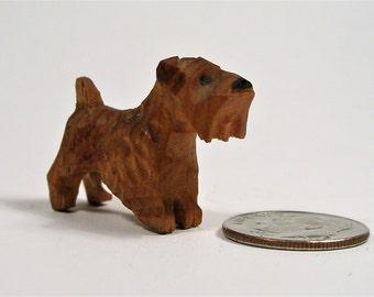 Hand Carved Original Terrier Miniature Figure
