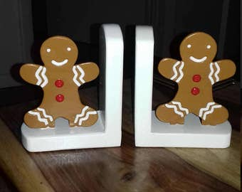 kitchen gingerbread cook book bookends