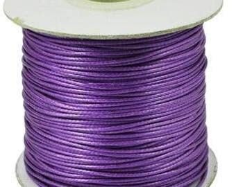 10m Violet Purple Thin Waxed Nylon Cord 0.5mm Shamballa Kumihimo Braiding Thread