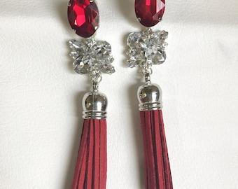 Earrings Barcelona (red variant)