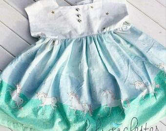 Unicorn Dress, Dolman Sleeves, Baby Unicorn Dress, Toddler Unicorn Dress, Spring Dress, Summer dress, Easter Dress