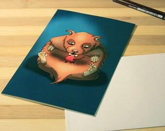 Lazy Hamster Card