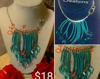 "16""- Blue Shower Necklace"