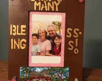 God's Many Blessings Decorative Wooden Photo Frame