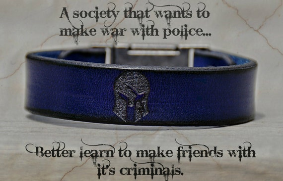 Leather Police Strap, Leather Bracelet, Leather Cuff