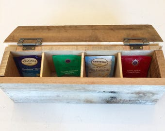 Rustic barn wood tea box