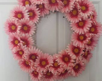 Daisy wreath / spring wreath / summer wreath / holiday wreath / door wreath / front door wreath