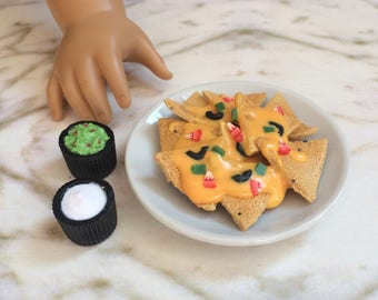 """Doll food for American Girl doll and 18"""" dolls,  1:3 scale nachos"""