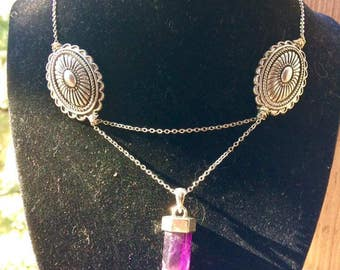 Tribal Amethysts Goddess Necklace