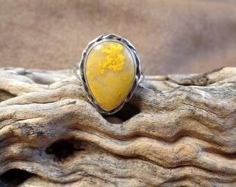 Opulent Mustard Jasper Ring 1276