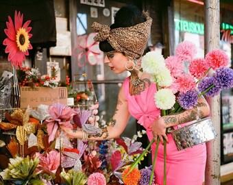 50s Hot pink designer dress