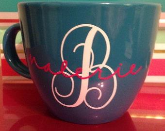 Monogram name mug OR wine glass
