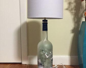 Grey goose bottle lamp