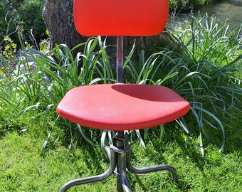 Vintage Industrial Machinists Chair