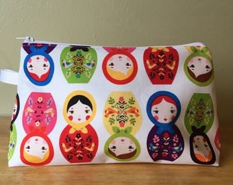Medium Project Bag- Nesting Dolls