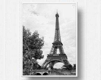Eiffel Tower, Paris, Love, Travel, France, Digital Wall Art, Digital Prints, Photography, Digital Download, Black and White,
