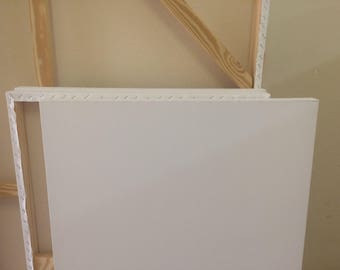 "Gallery Wrapped Art Canvas. Blank and ready for painting, 1 1/2"" depth, (6 pack)"