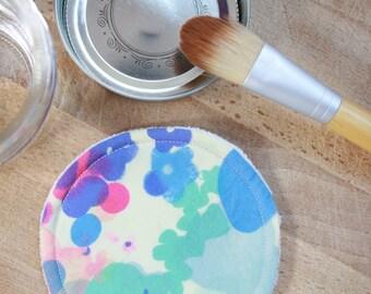 Reusable cleansing pad - watercolor