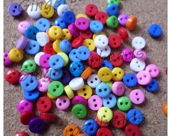 6mm Round resin buttons, Resin buttons, Round buttons, Buttons, Craft buttons, Sewing buttons, Scrapbooking