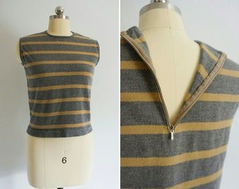 1960s Anka striped sweater   vintage striped sweater   vintage 60s sweater