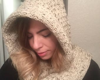Hooded Wrap Scarf