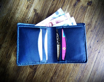 Wallet Bifold in leather black