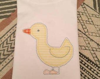 Sweet duck applique shirt
