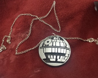 death star, star wars inspired pendant
