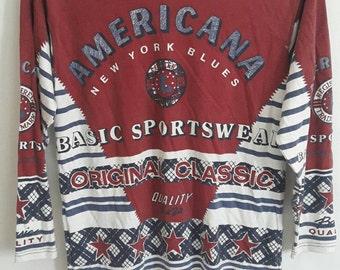 Vtg Americana Sportswear Fullprint 90s  Americana Sportswear