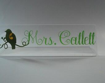 Teacher Name Plate Etsy