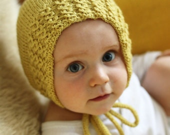 Babybonnet Isidor • 2- 6 months • in mustardyellow