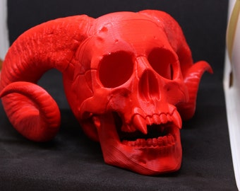 Demon Skull Bonehead (3D Printed)