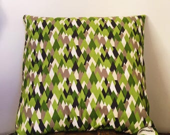 Green Mountain Throw Pillow