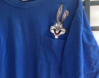 Sale 20USD Free Shipping Vintage Bugs Bunny By Acme Clothing Pocket T Shirt