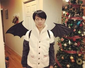 Bat Wing Black Devil Cosplay Costume Vampire Morrigan (Large)