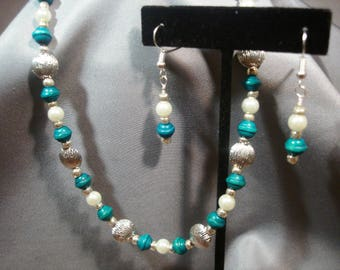 Silver & Turquoise necklace and earrings