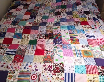 Family Patchwork Quilt//children quilt// picnic blanket // play mat// birthday gift