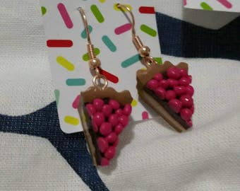 Earrings cherry tarts