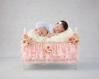 Newborn Digital Backdrop - Beautiful Vintage Bed