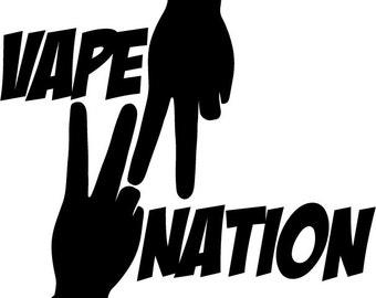 vape nation car decal