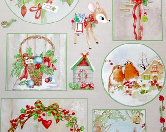 Landscape A4 collage sheet - Christmas