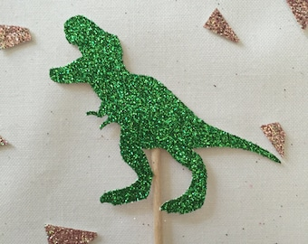 Pack of 24, Dinosaur cupcake toppers, birthday, T-Rex