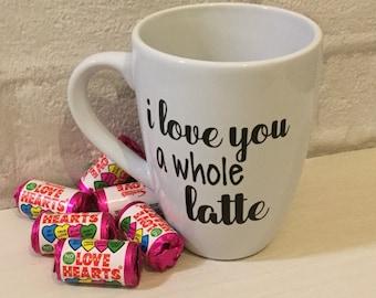 Valentines mug i love you a latte