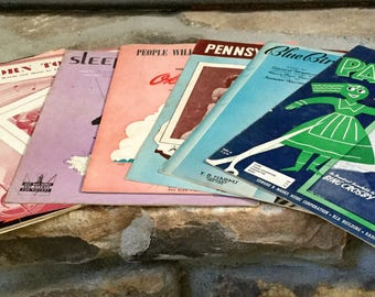SALE! Vintage Sheet Music Lot of 17 1930's-1960's Sinatra Crosby Porter Rodgers & Hart